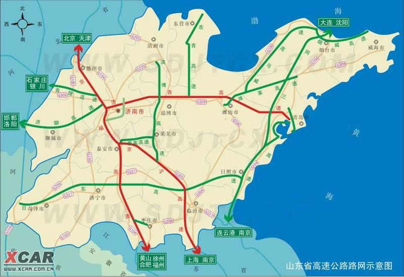 【精华】山东高速路流量图及高速路地图
