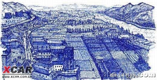 休息一下,欣赏圆珠笔画的画_欧宝论坛_爱卡汽车