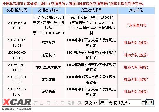 处理非深圳市(其他省,地区)交通违法