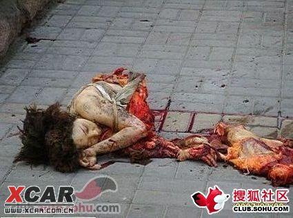 【近距离拍摄】济南街头美女司机汽车被炸现场