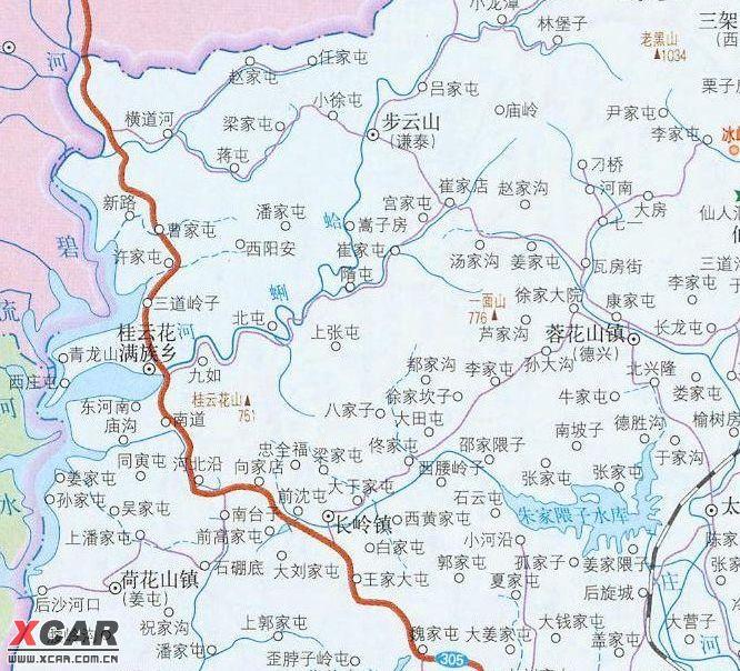 求助从大连市区到庄河的步云山庄的具体路线
