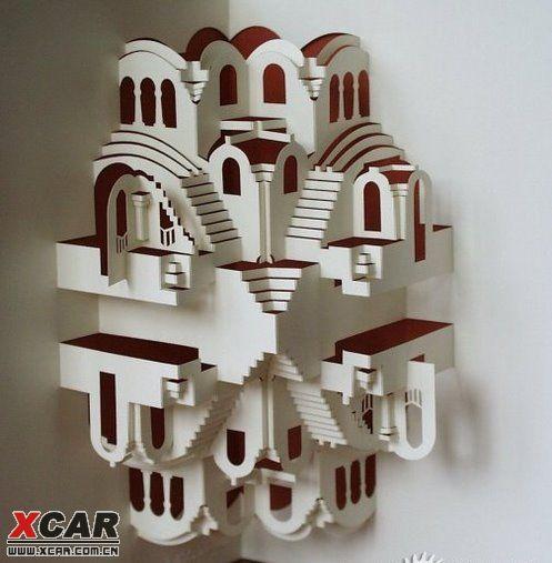 开合式立体纸雕贺卡设计作品欣赏!精细的手工让人惊叹