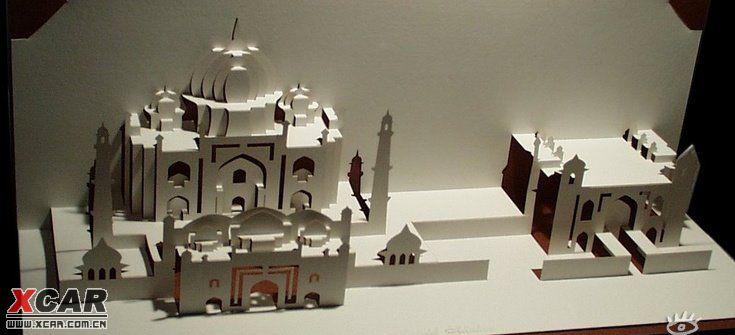 开合式立体纸雕贺卡设计作品欣赏!