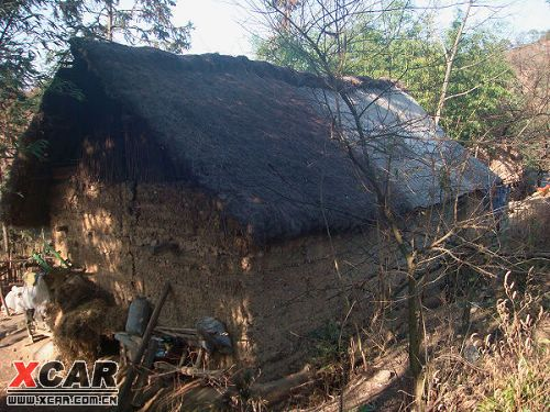 这间破烂的茅草房就是杨发英的家