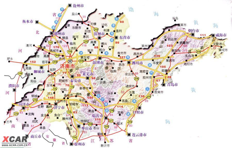 滕州到青岛高速路线图