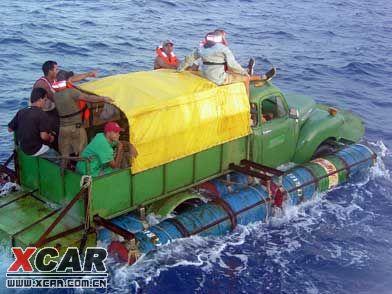 新式水陆两用汽车!可以跨海!