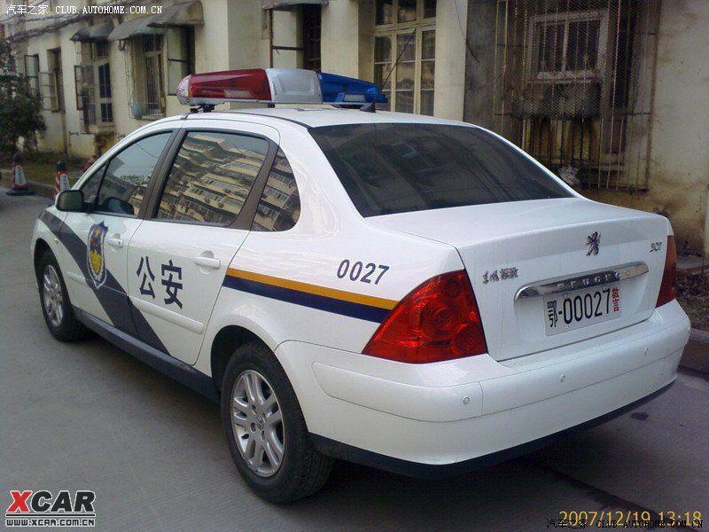 武汉的307警车_标致307论坛_爱卡汽车