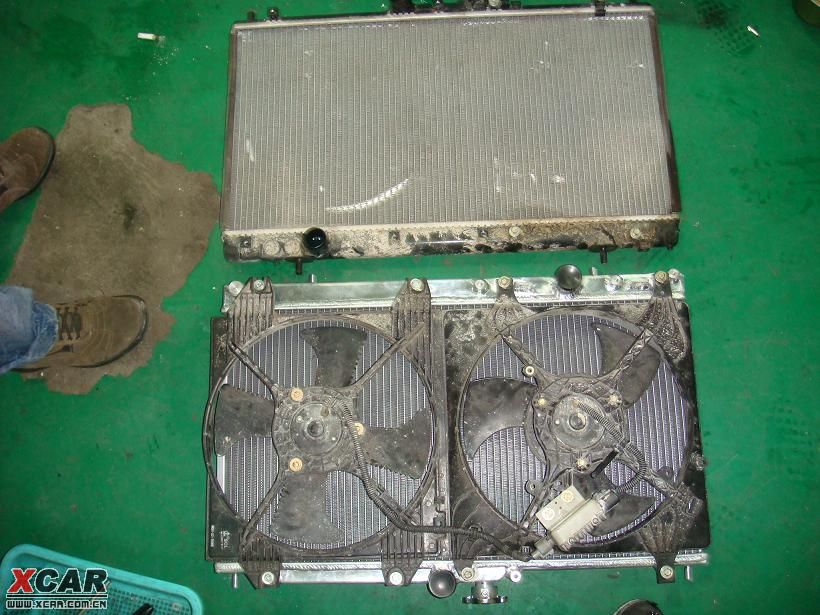沈阳劲擎汽车改装 中华骏捷改装之更换加厚铝制水箱作业高清图片