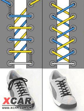 16种超级可爱的鞋带系法