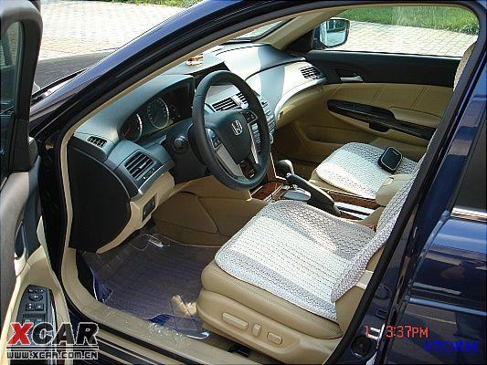 雅阁八代2.4EX皇室蓝提车作业(多图)