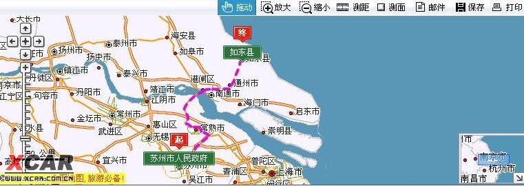 苏州市区到如东县城怎么走?
