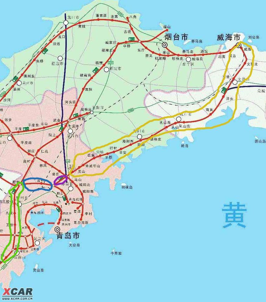 山东最新高速公路地图 压缩了不是很清楚