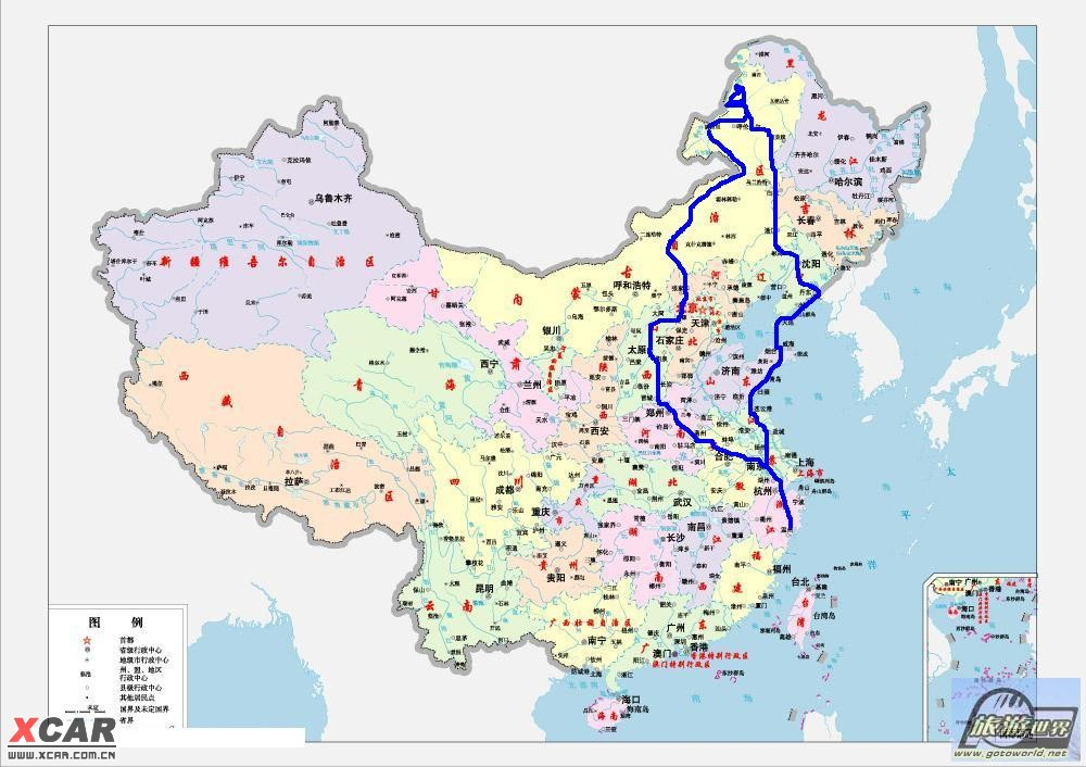 南京到西藏地图