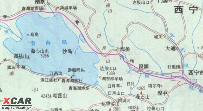 青海湖附近地图