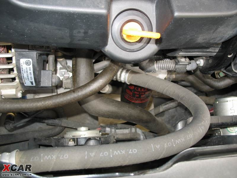 (宝来经典1.8t)擦了一早上,发动机舱还是那么脏,.图片