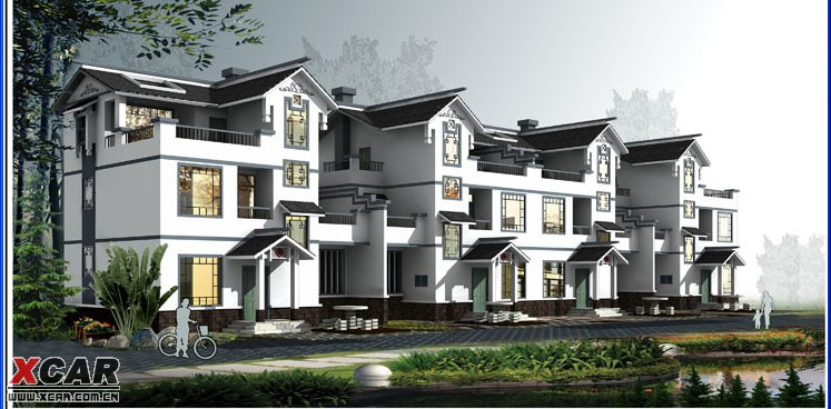 求最新样式农村别墅设计效果图