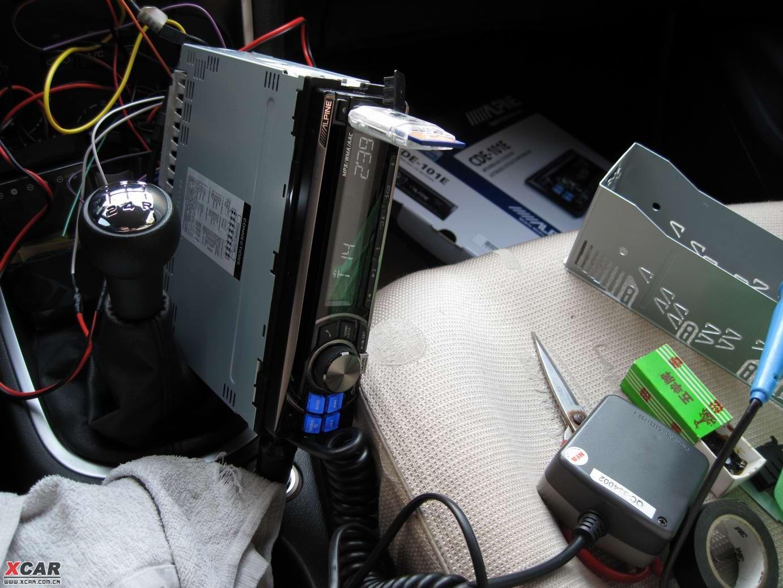 背面的接线还方便的,配备有接线图的,照接就是了,稍难的是原机头