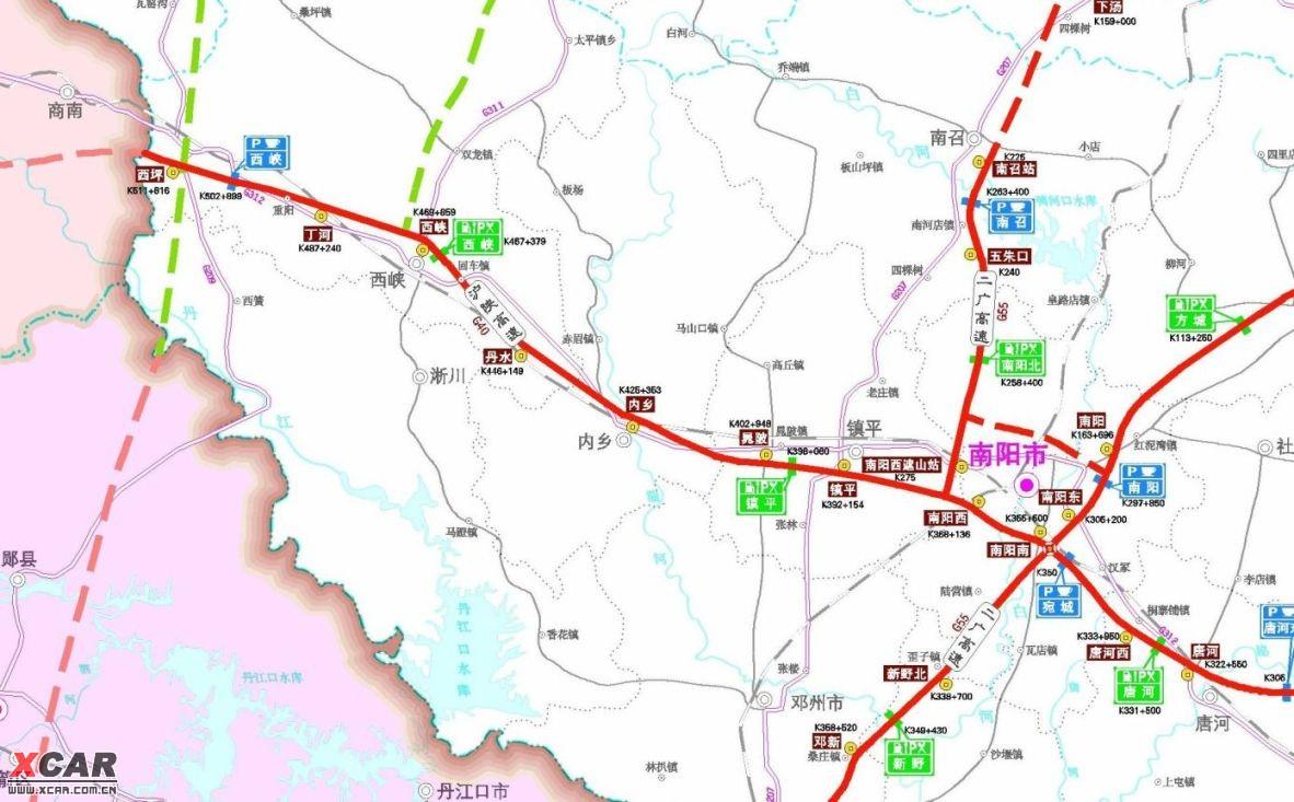 南阳地区服务区地图,西峡服务区是河南境内最后一