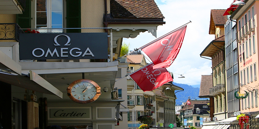 地貌特殊 览瑞士因特拉肯小镇