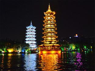 桂林夜晚灯火通明