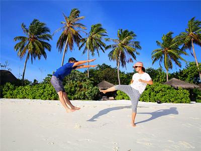 在马尔代夫自由翱翔