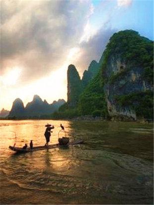 寄情于桂林山水之中