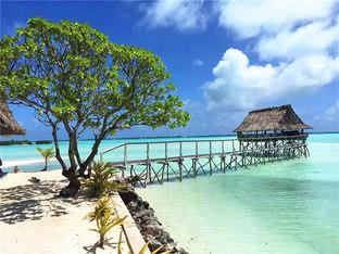 海波荡漾 南太平洋岛国浪一浪