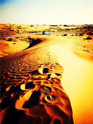绘出大漠孤烟与落日