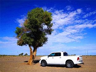 戈壁荒漠 走京新高速前往新疆