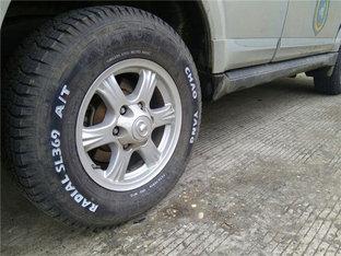野性十足 哈弗H5涂改液描轮胎