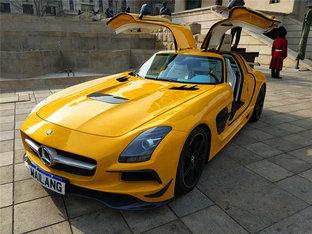 酷炫十足回头率高 奔驰SLS AMG全车改色