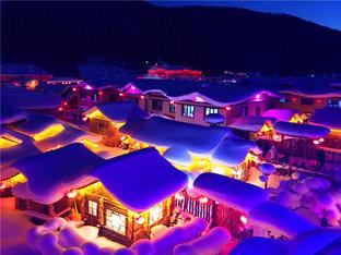 冰天雪地赏雪乡美景