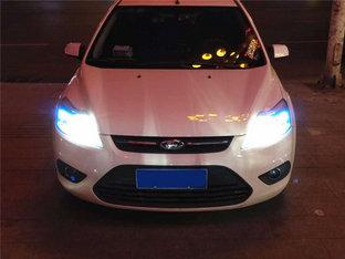 夜间行车明亮许多 经典福克斯换LED大灯