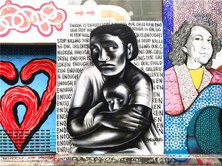 欣赏涂鸦 最冷的冬天是旧金山的夏天