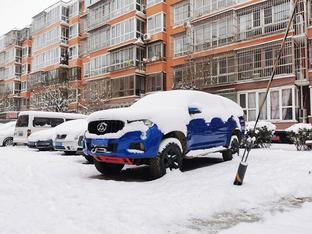 雪中与爱车互动 也是个美好的回忆!