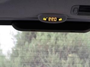 斯巴鲁这款车倒车雷达显示是反的,从后视镜 猜猜看 高清图片