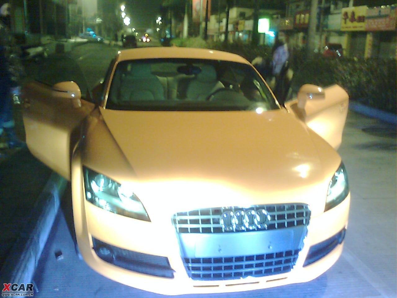 昨晚见到一美女开一台橙色新款奥迪tt 广西汽车论坛 xcar 爱高清图片
