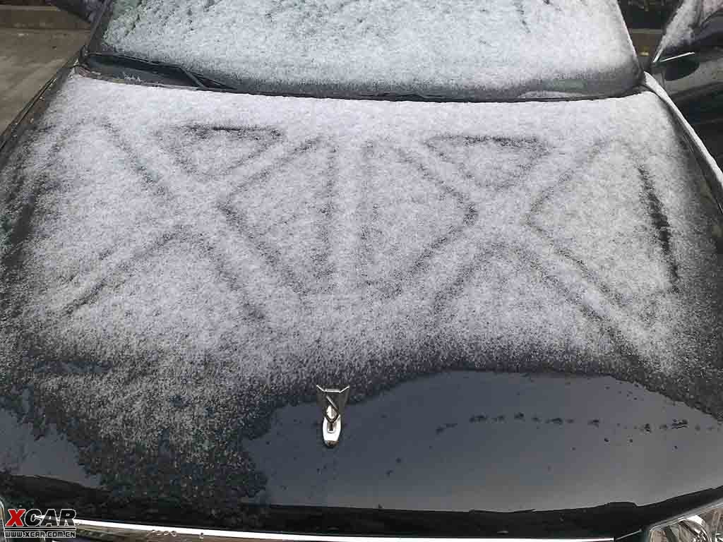 雪后君威机盖子上图案 君威论坛 xcar 爱卡汽车俱乐部高清图片