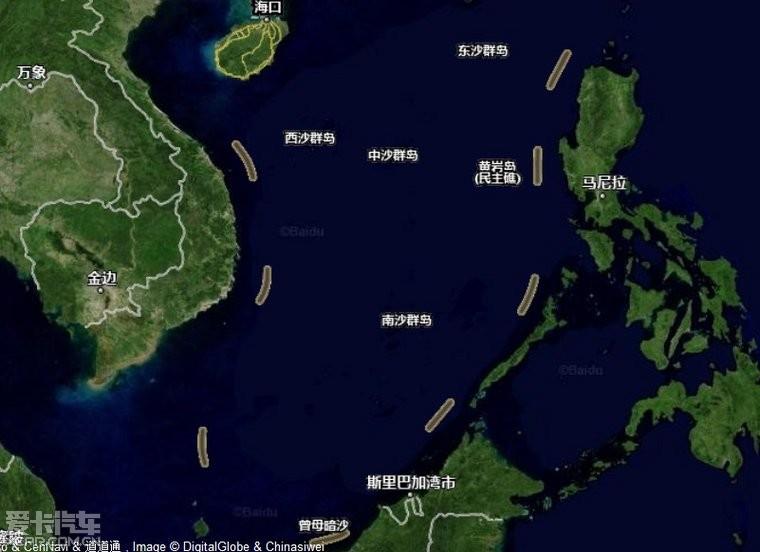 中国最南端是曾母暗沙---初中地理学的_北京汽