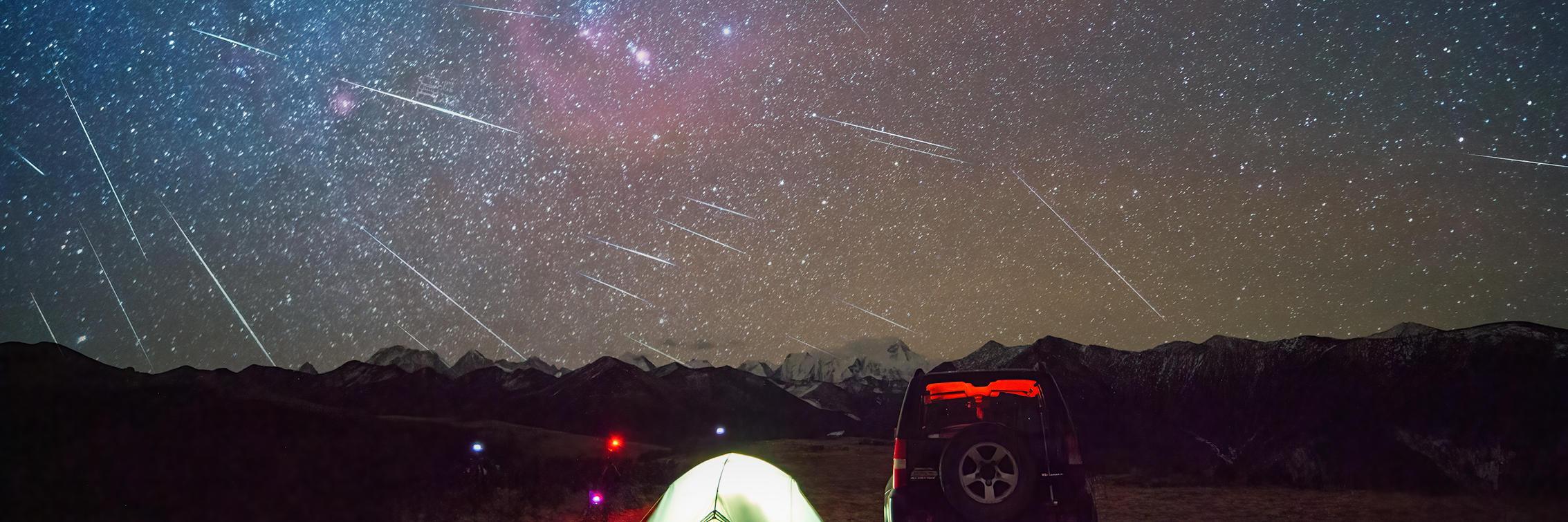 【年终盛典】在8级狂风中遥望流星如雨点般洒在蜀山之巅上