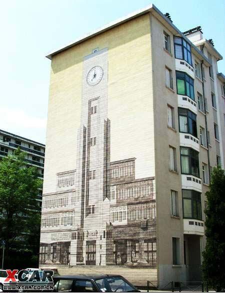 法国人的墙体艺术 荣威论坛 xcar 爱卡汽车俱乐部高清图片