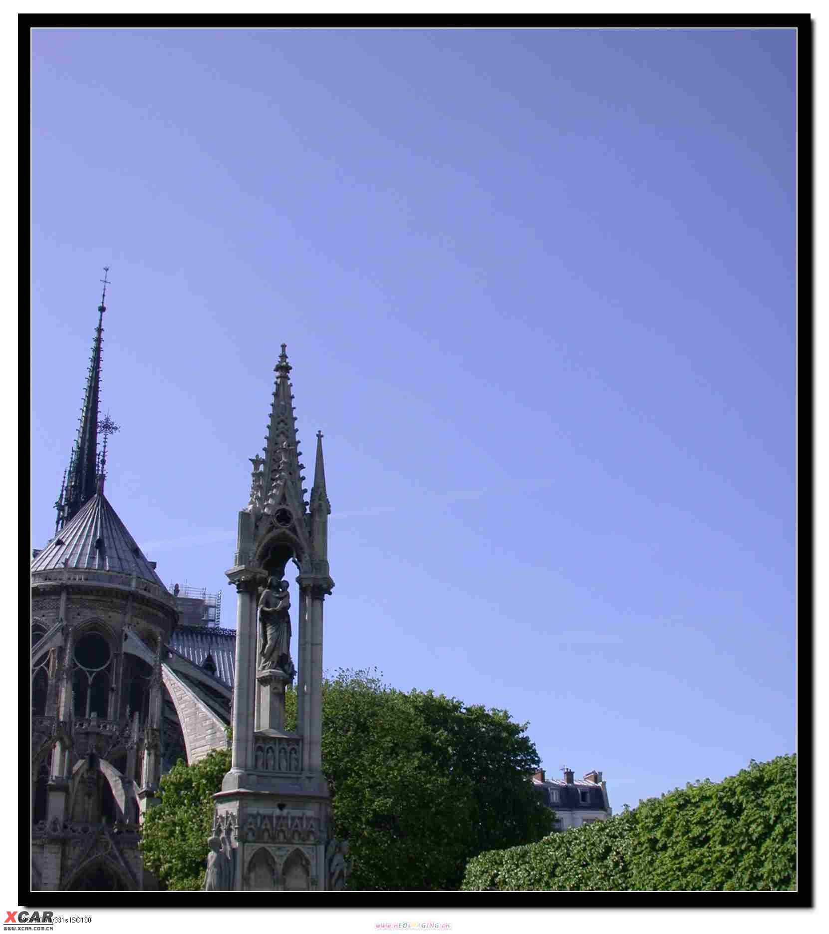 巴黎圣母院和罗浮宫 途安论坛 xcar 爱卡汽车俱乐部高清图片