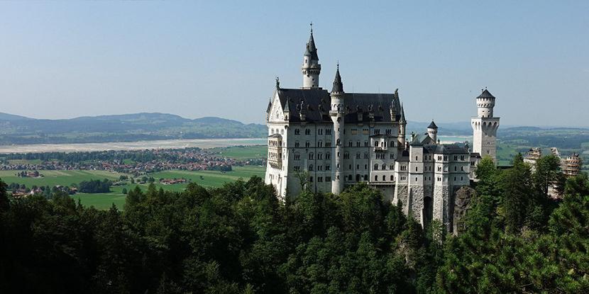 迪斯尼城堡原型-童话世界德国天鹅堡